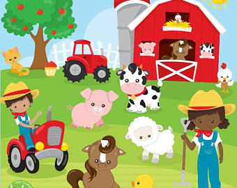 Etsy off sale animals. Farm clipart