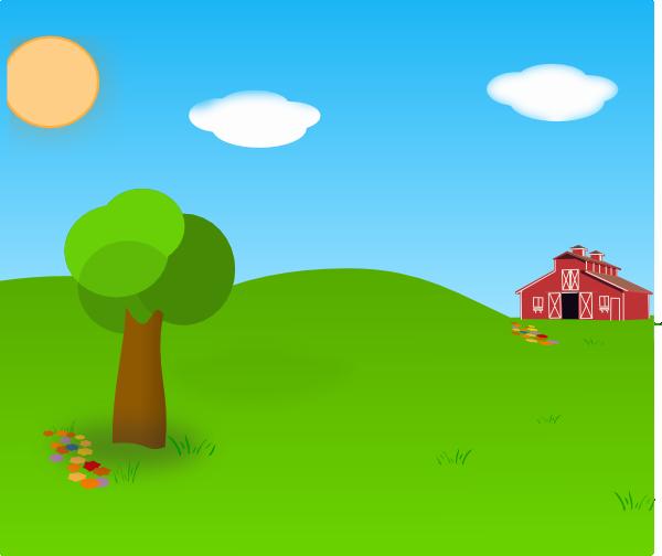 Farm background clip art. Farmhouse clipart backdrop