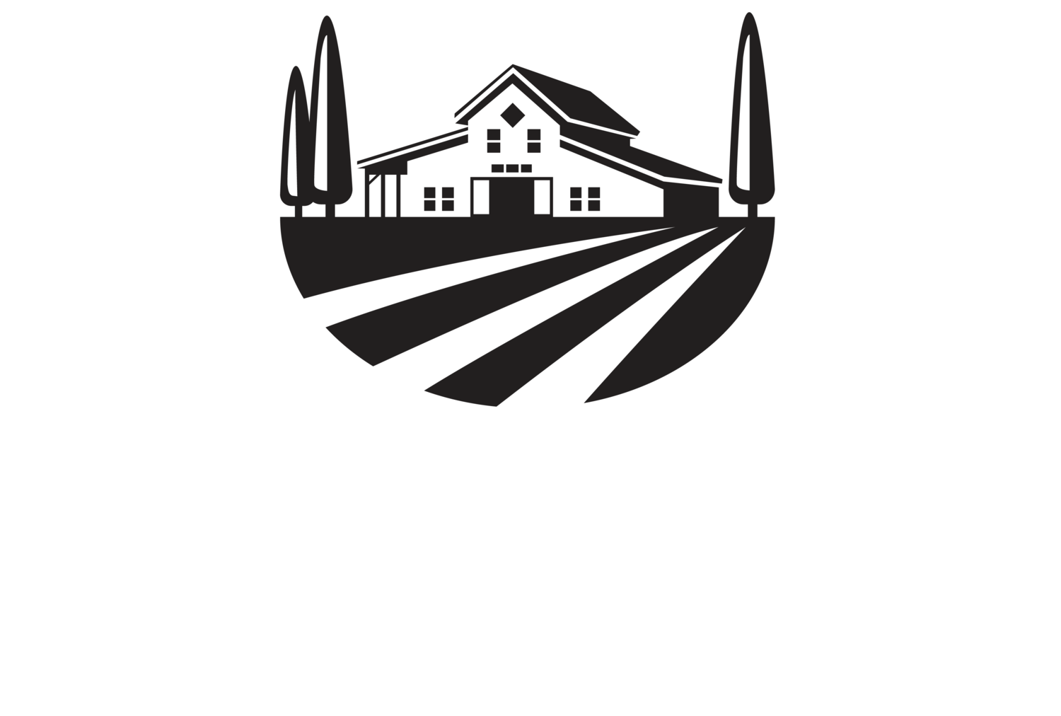 The vineyards at mt. Farm clipart black and white