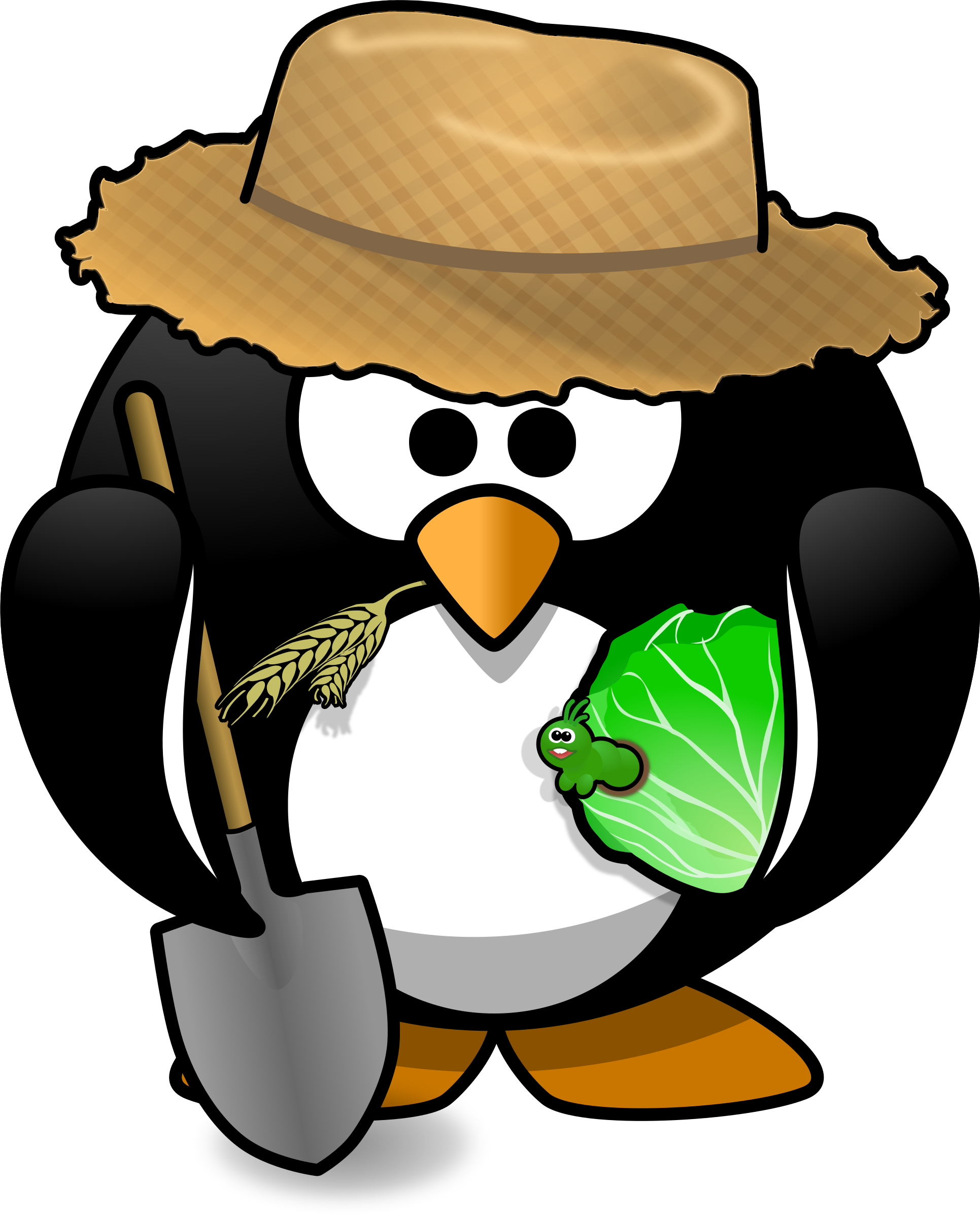 Free penguin high resolution. Farmer clipart garden