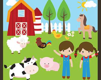 Farm clip art with. Farmers clipart cute