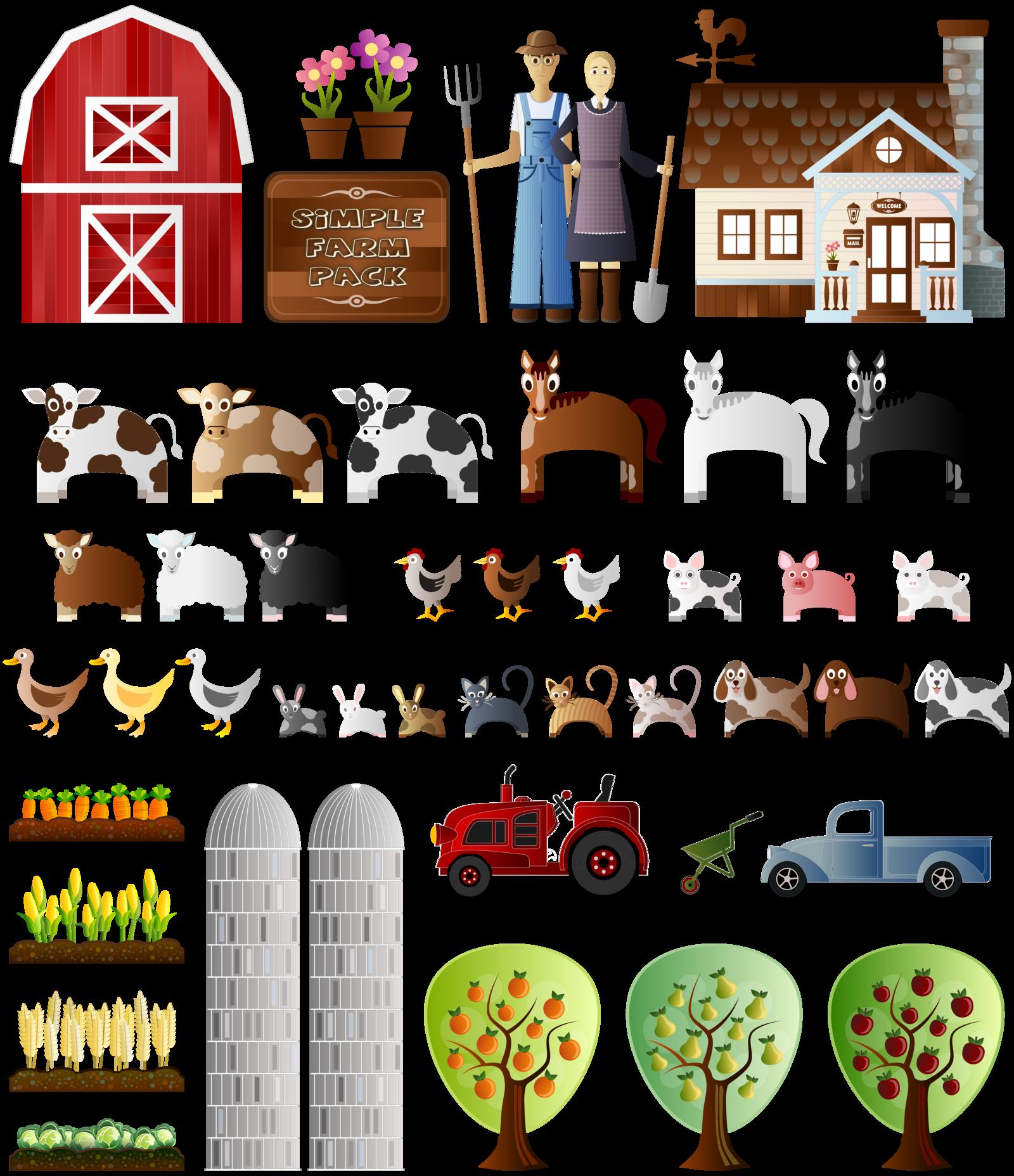 Farm clipart easy. Simple by viscious speed