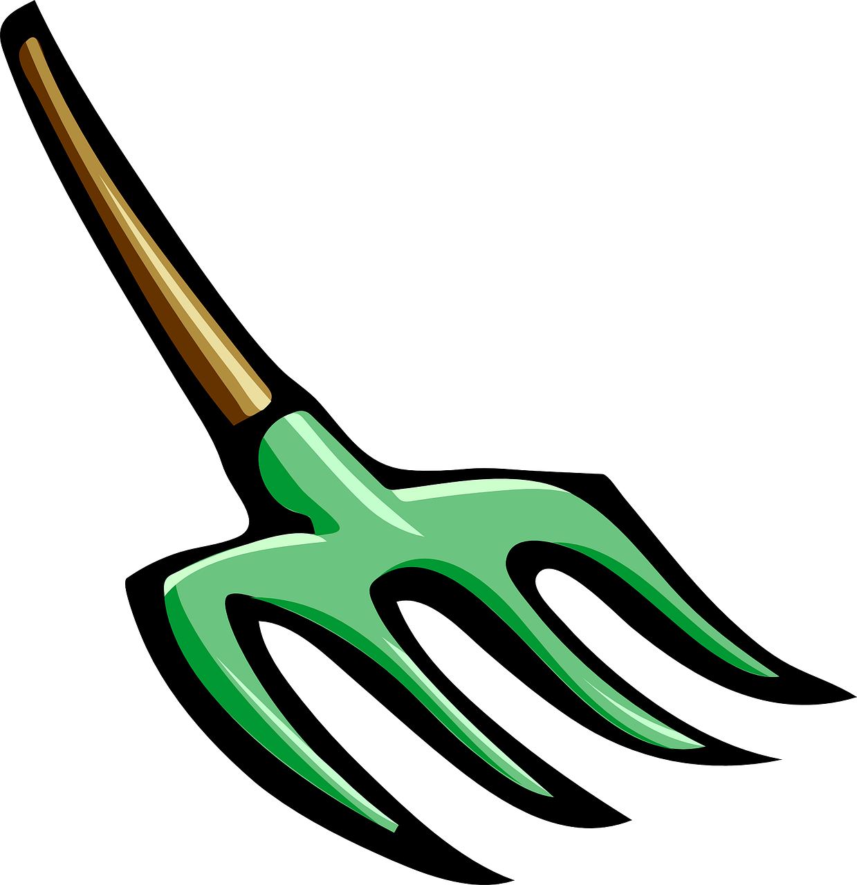 Pitch garden tool planting. Farm clipart fork
