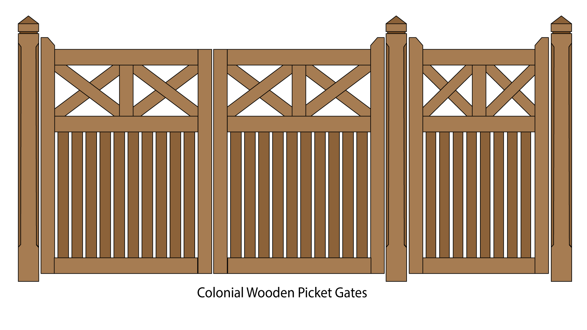 Wooden picket and timber. Farm clipart gates