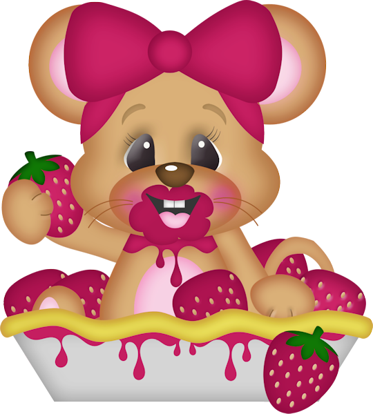 Farm clipart mouse. Strawberry love elements png