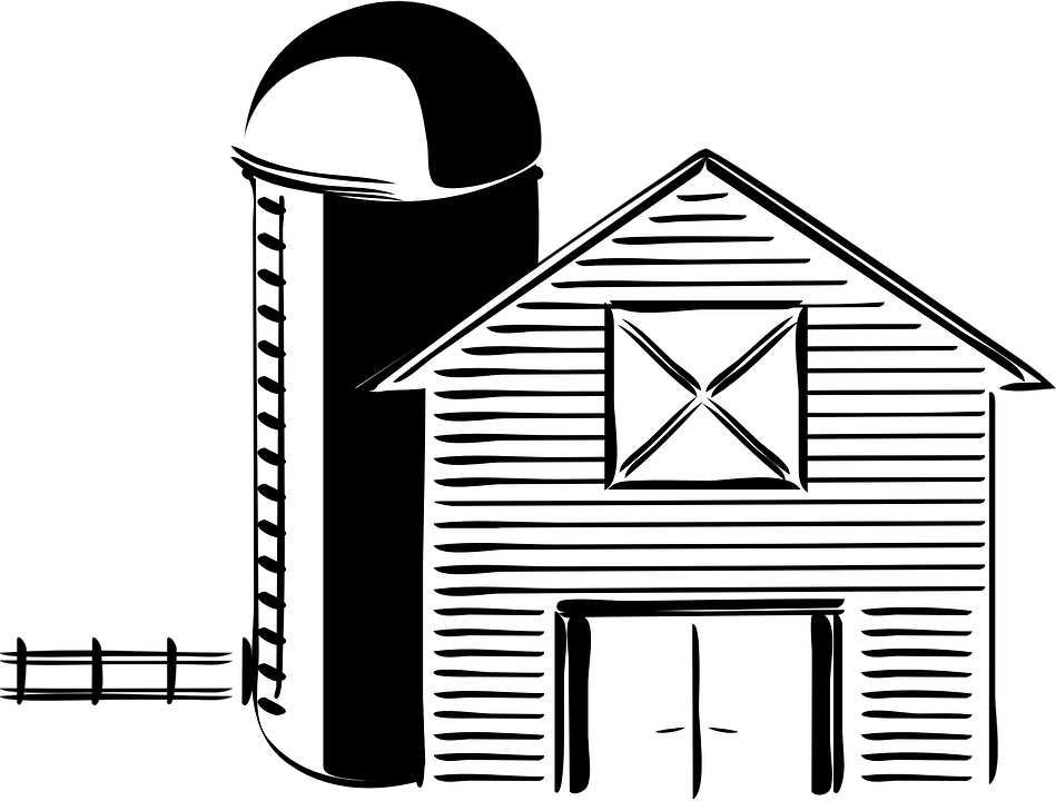 Farm clipart outline. Fence png black and