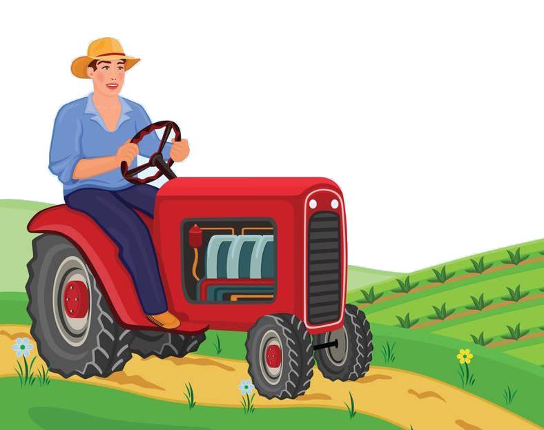 Farmer agriculture clip art. Farm clipart tractor