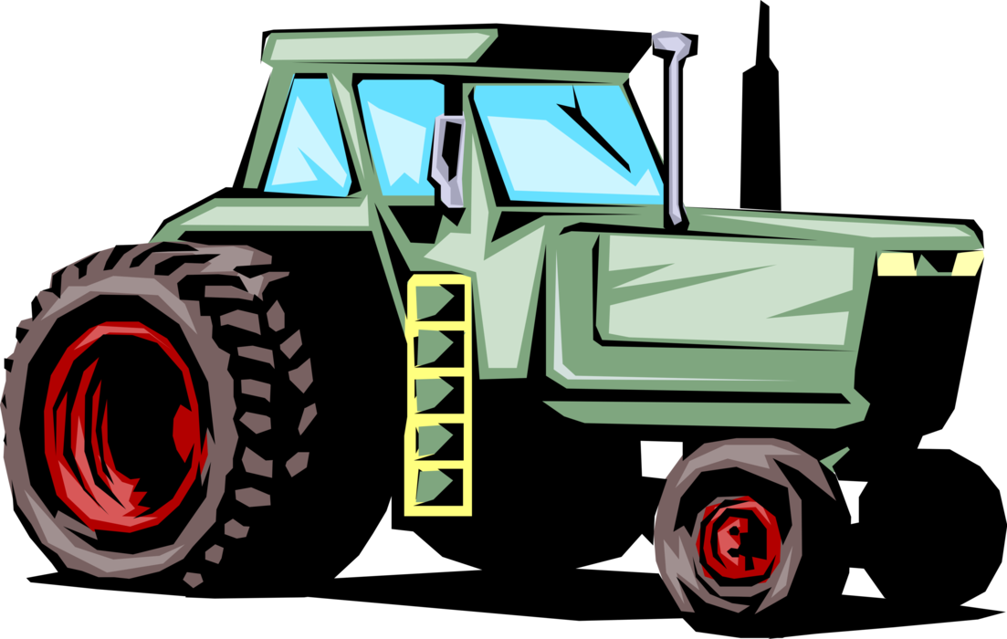 Agricultural implement vector image. Farm clipart tractor