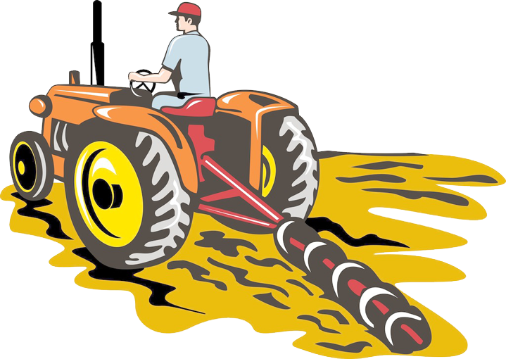 John deere tractor plough. Farming clipart ploughing