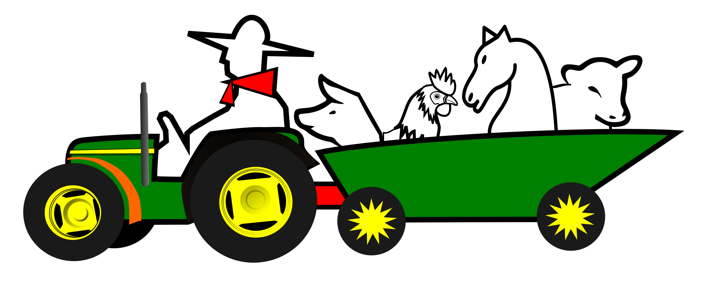 Logo animales big image. Farmer clipart tractor