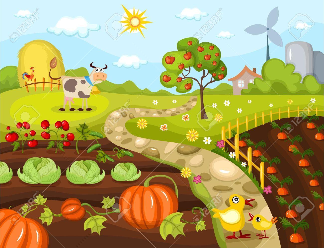 Farming clipart vegetable farm. Pin by grace gunawan