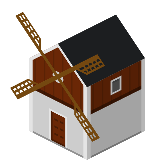 Farm house png. Isometric buildings icon svg