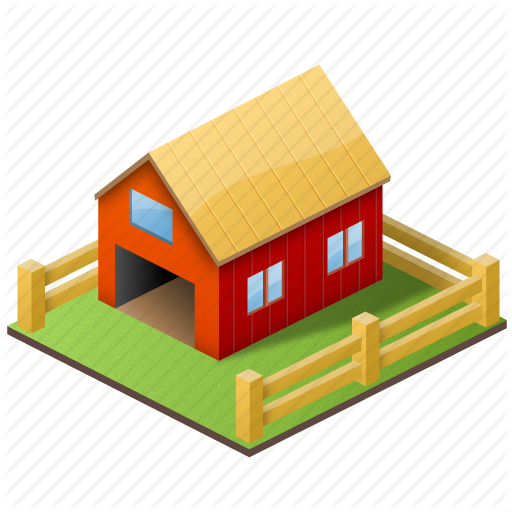Farm house png. Large home icons by