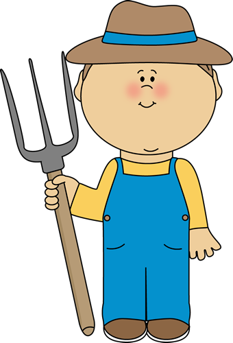 Boy from mycutegraphics farm. Farmer clipart