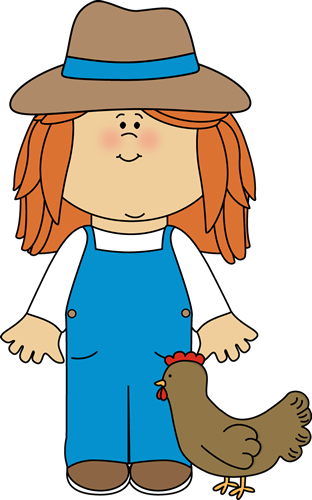 Farmer clipart. Girl from mycutegraphics farm