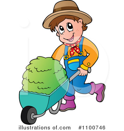Farmer clipart. Illustration by visekart royaltyfree
