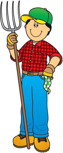 Free cartoon farmer cliparts. Farmers clipart country boy
