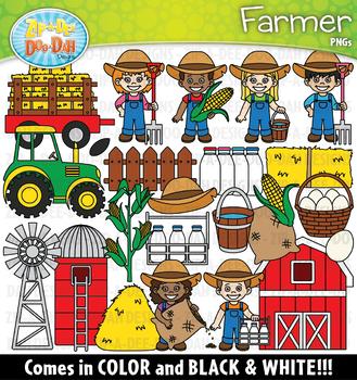 Farmer helpers zip a. Farmers clipart community helper