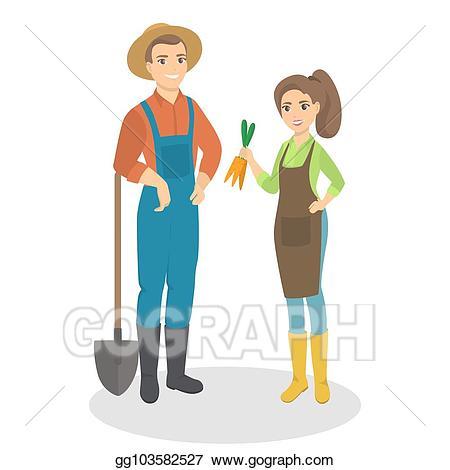 Vector stock isolated farmers. Farmer clipart couple