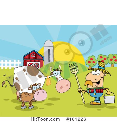 Farmer male tending to. Farming clipart cattle farming