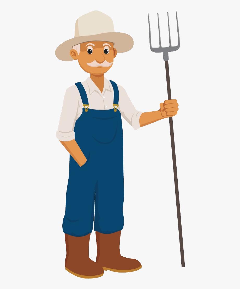 Farmer transparent . Gardener clipart farm worker