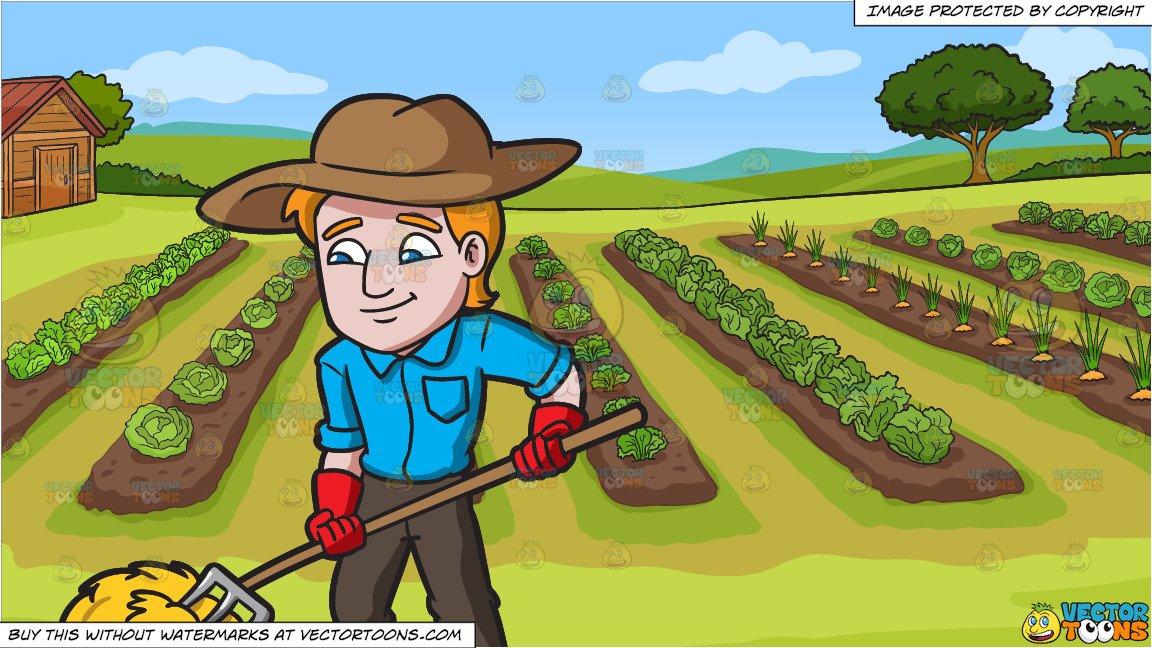 A rolling the hays. Farmer clipart garden