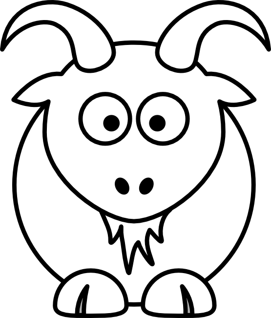 Hamster clipart capybara. Goat black and white