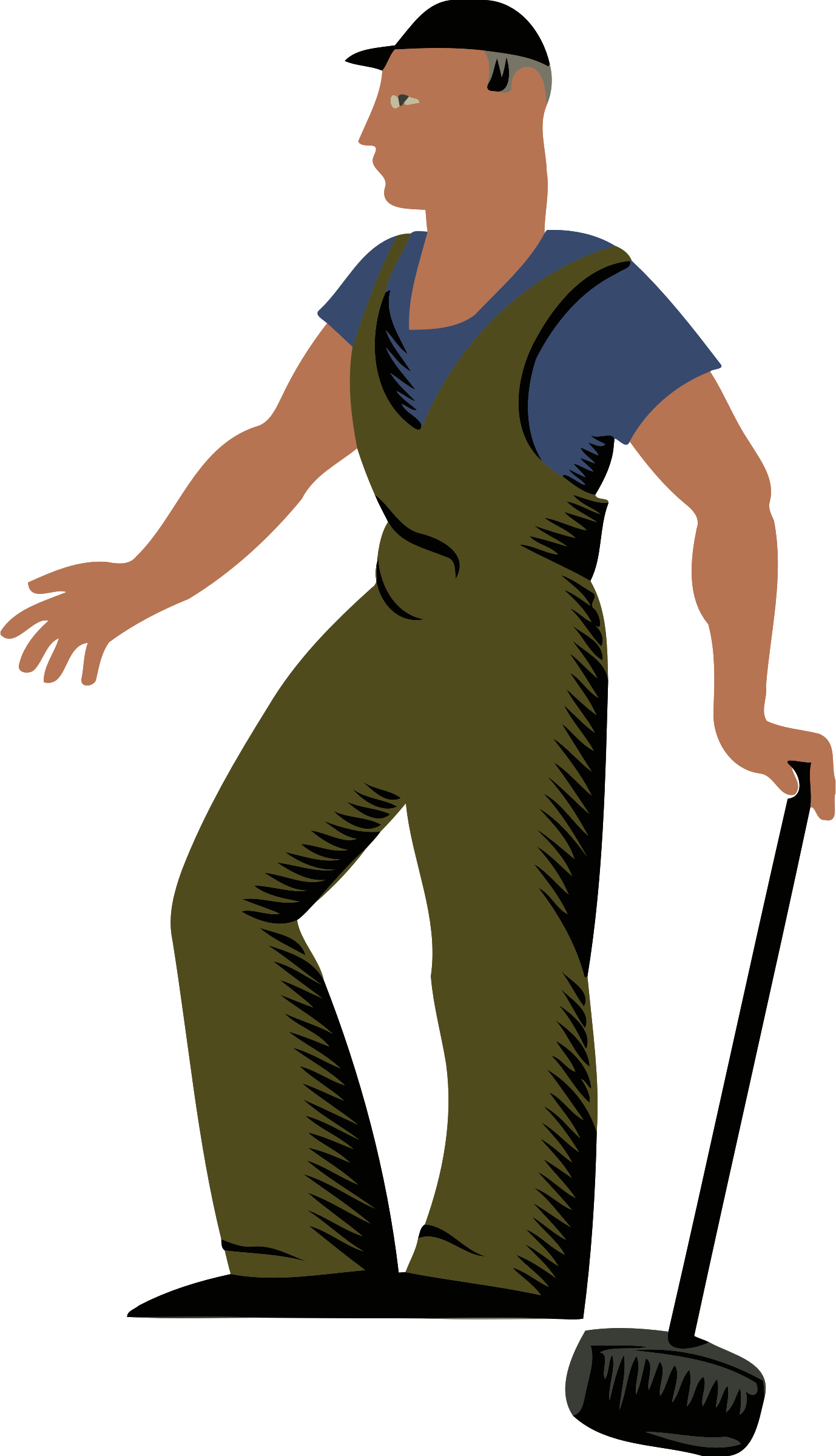 Working clipart laborer. Worker big image png