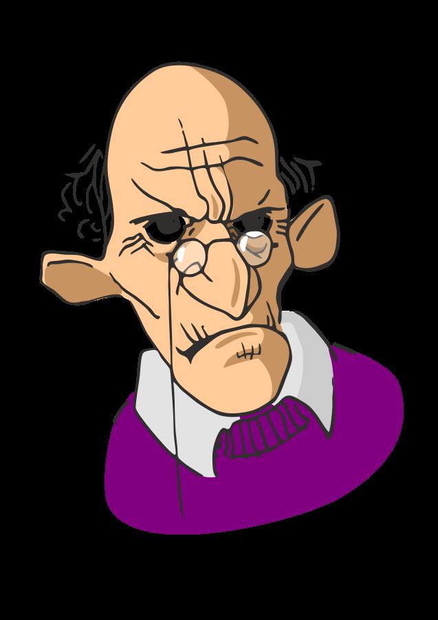 Old man talking clipartfest. Guy clipart vector