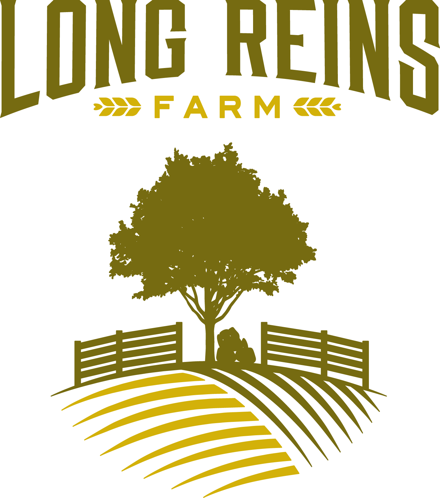 Long reins farm logo. Farmer clipart rancher