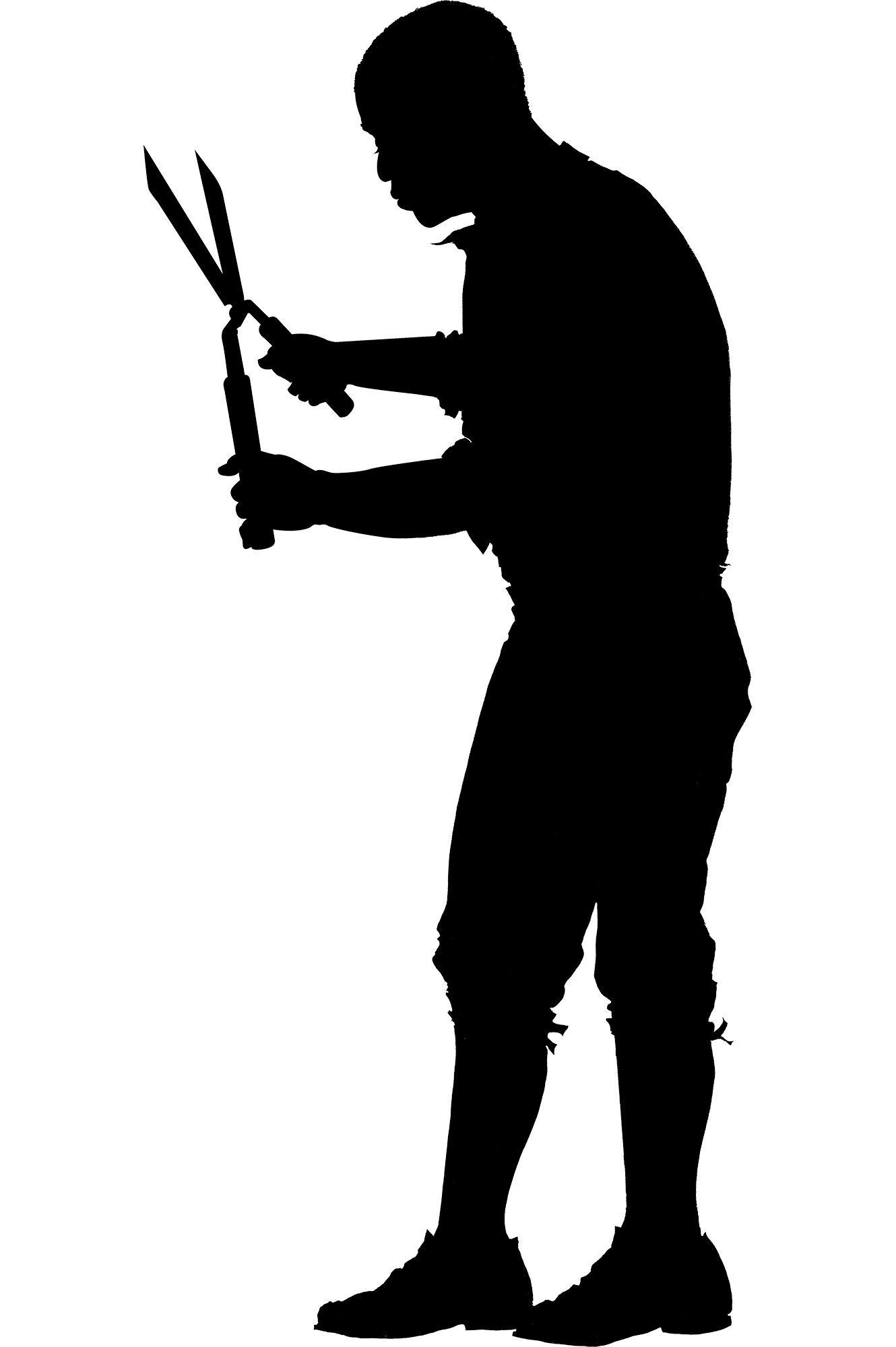 At getdrawings com free. Farmer clipart silhouette