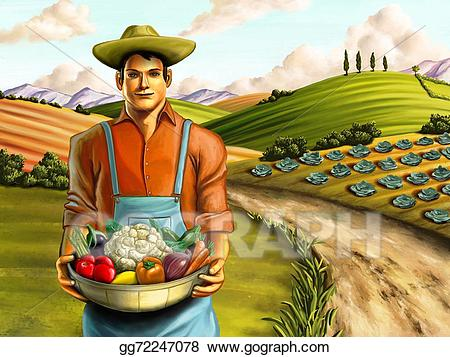 Drawing farming gg . Farmers clipart vegetable farm