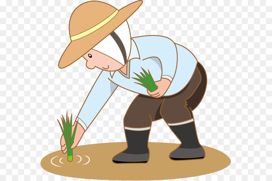 Farmer rice paddy field. Farmers clipart