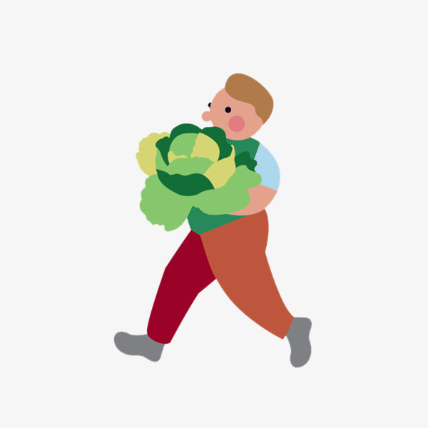 Farmers clipart. Holding vegetable uncle cauliflower