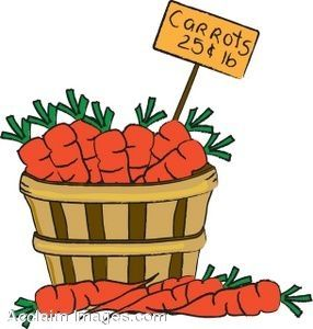 Of carrots making a. Farmers clipart basket