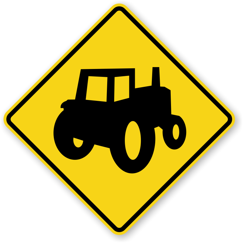 Farming clipart agriculture machine. Farm machinery crossing sign