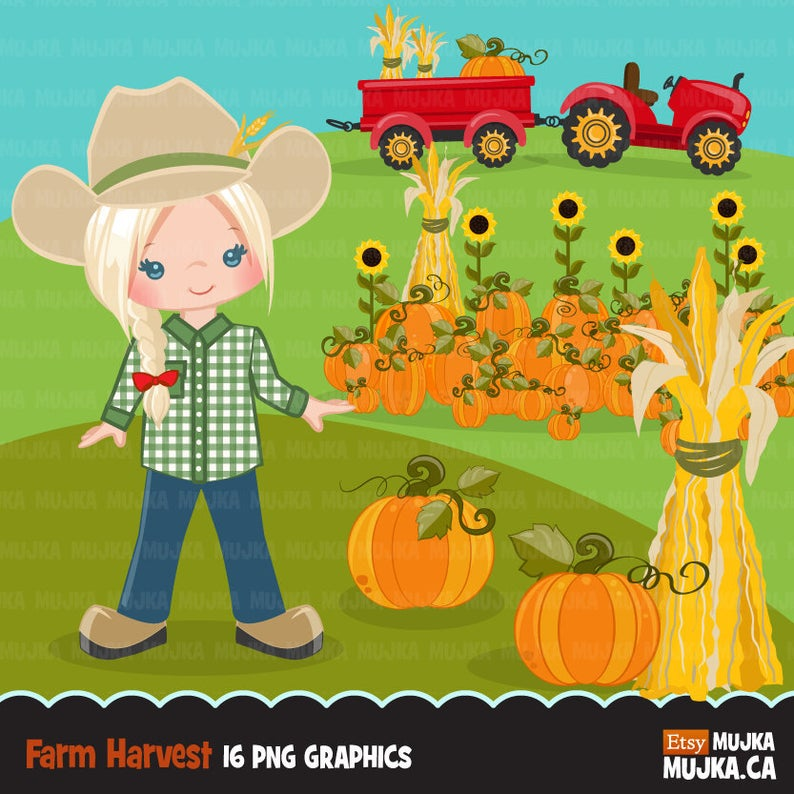 Fall with tractor cute. Farmers clipart farmer african