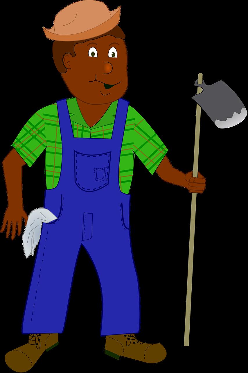 Agriculture cartoon comic characters. Farmers clipart farmer african
