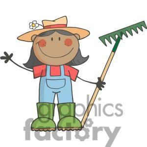 Graphics of a gardener. Farmers clipart farmer clothes