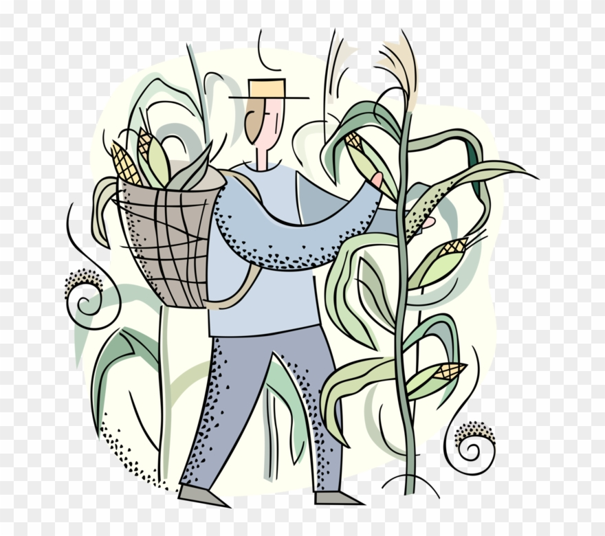 Clip art png . Farmers clipart farmer harvesting crop