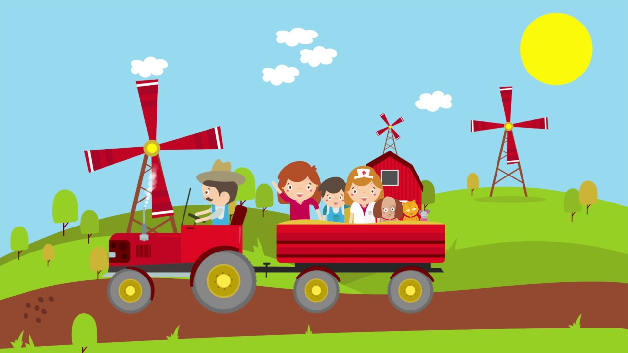 The songs for kids. Farmers clipart farmer in dell