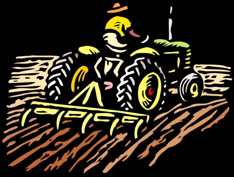farmers clipart farmer ploughing field