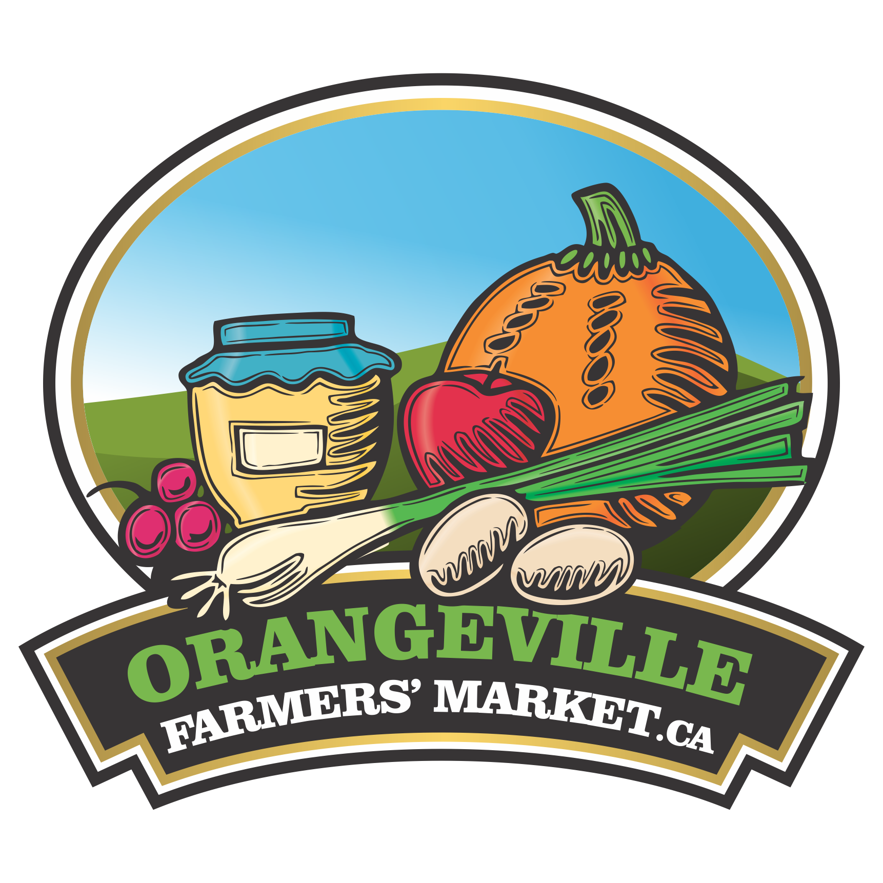 Farmers clipart farmers market. Orangeville headwaters more information