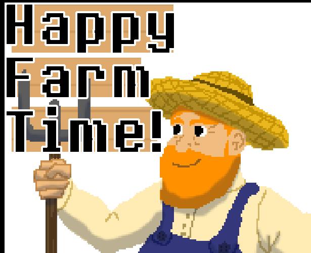Farmers clipart happy farmer. Farm time by kate
