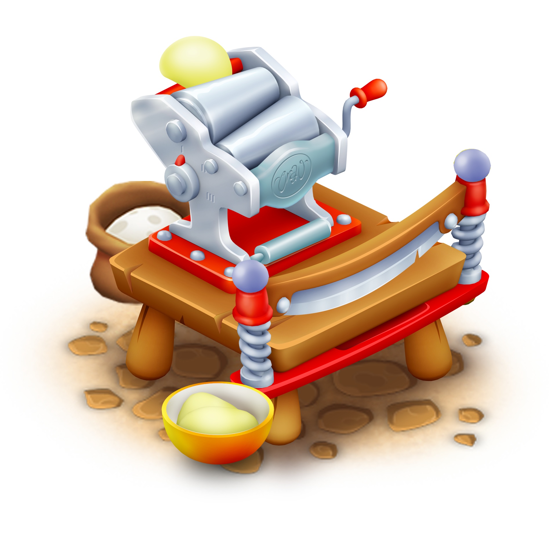 Pasta maker hay day. Noodles clipart spagetti