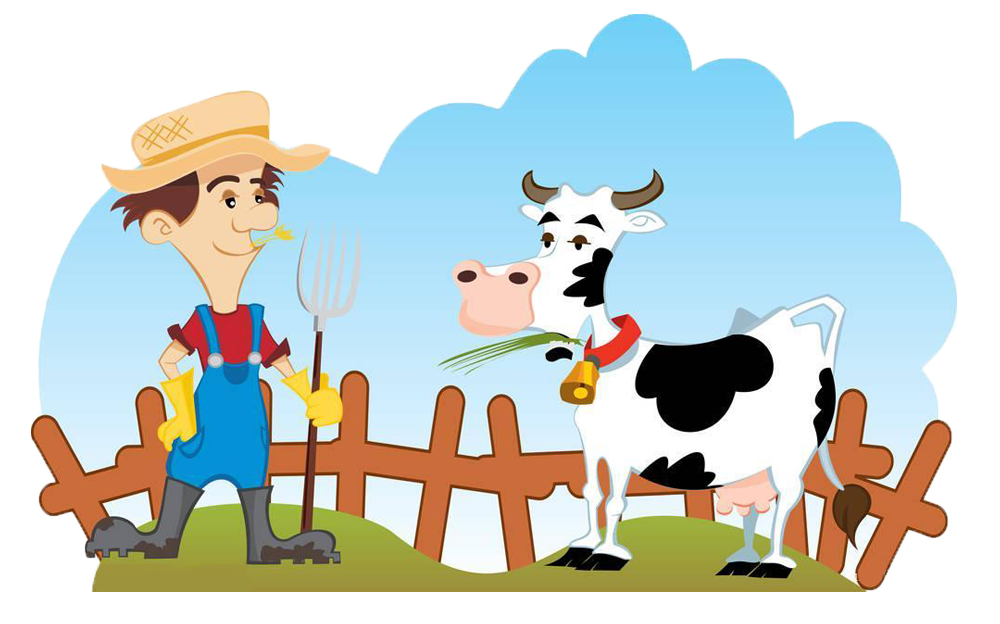 Cattle farmer dairy and. Farming clipart pongal