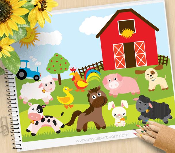 Farm animals . Farmers clipart nursery plant