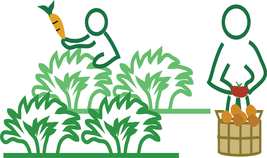 Farmers clipart organic farming. Dolma ginger garlic broccoli