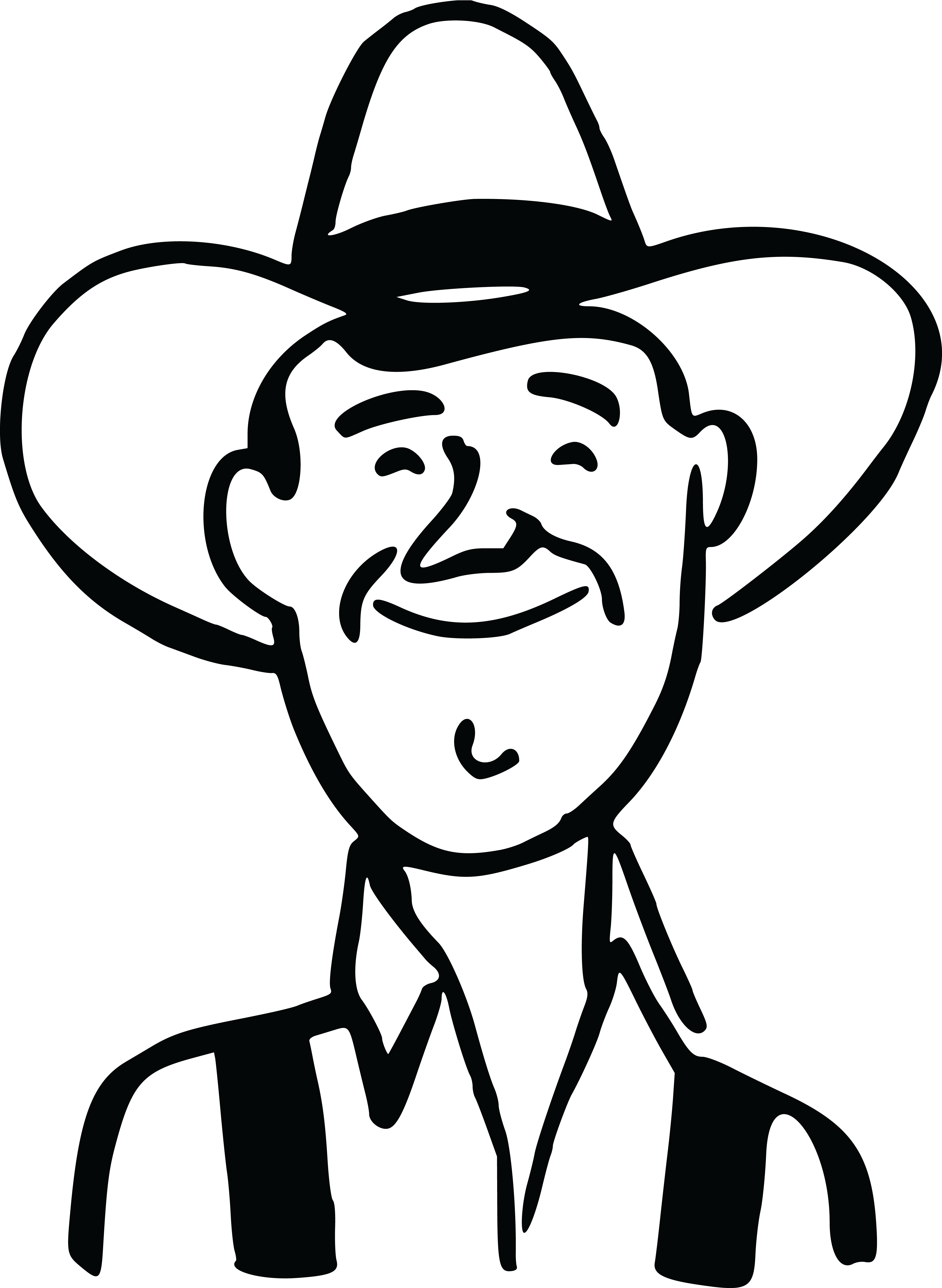 Hd straw hat black. Farmers clipart outline
