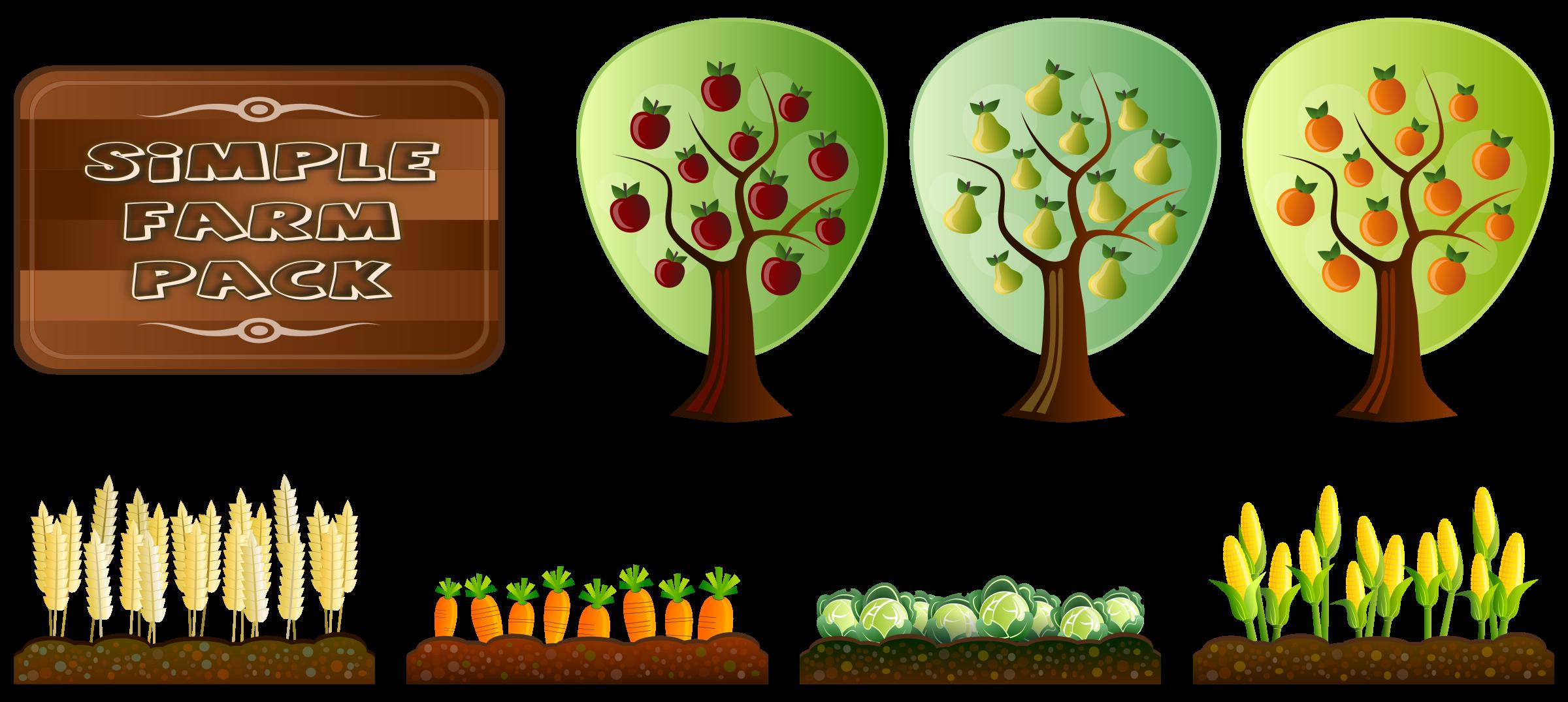 Simple farm crops by. Farming clipart teacher
